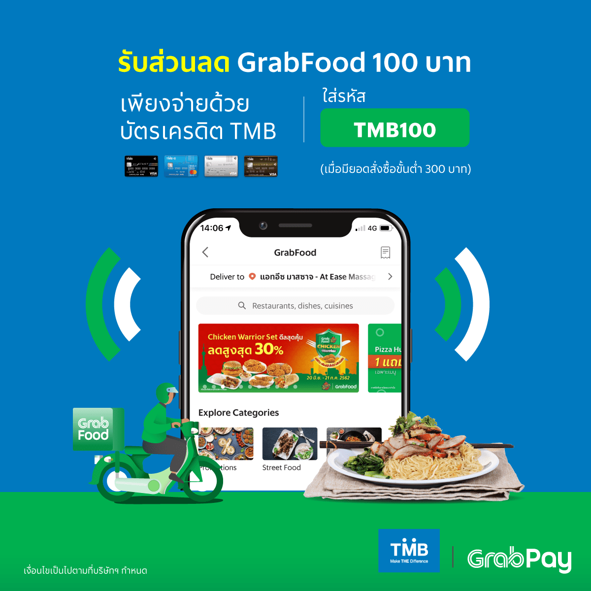 Get 5 GrabFood promos from our bank partners when pay with GrabPay