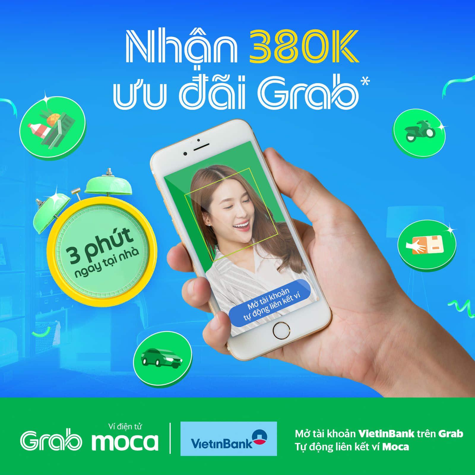Mở tài khoản Vietin Bank, tự động kích hoạt ví Moca