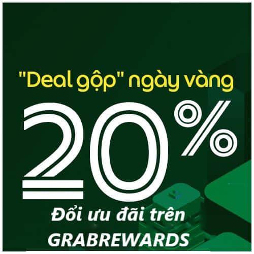 Giảm thêm 20% khi dùng ưu đãi đổi tại GrabRewards