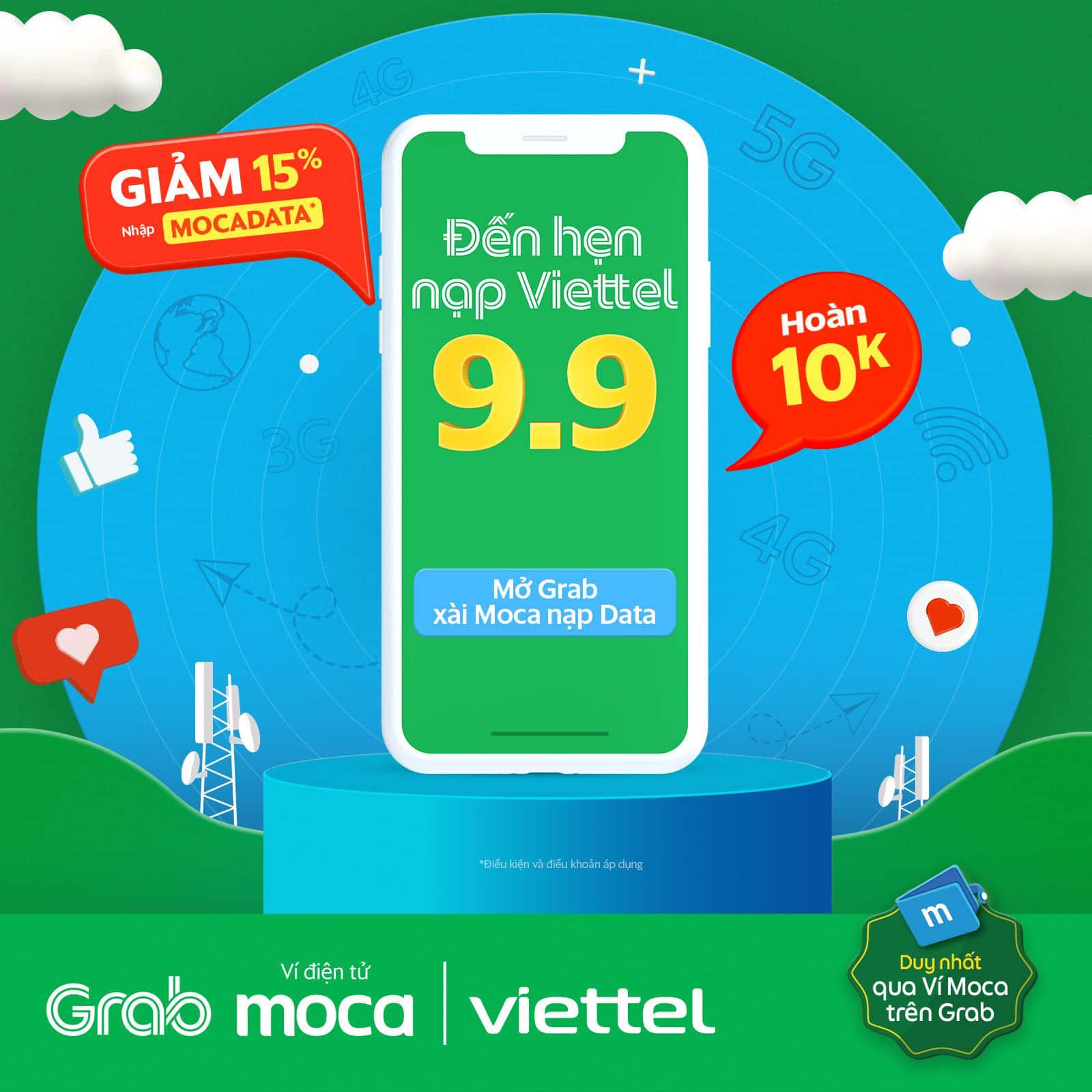 Nạp Data Viettel giảm ngay 15% và hoàn 10K