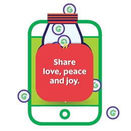 Share love, peace and joy.