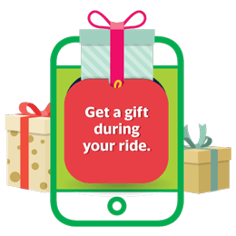 Get a gift during your ride.