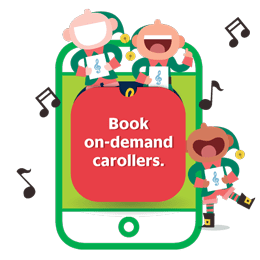 Book on-demand carollers.