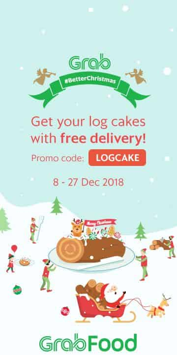 Get your log cakes with free delivery! Promo code: LOGCAKE 8-27 Dec 2018
