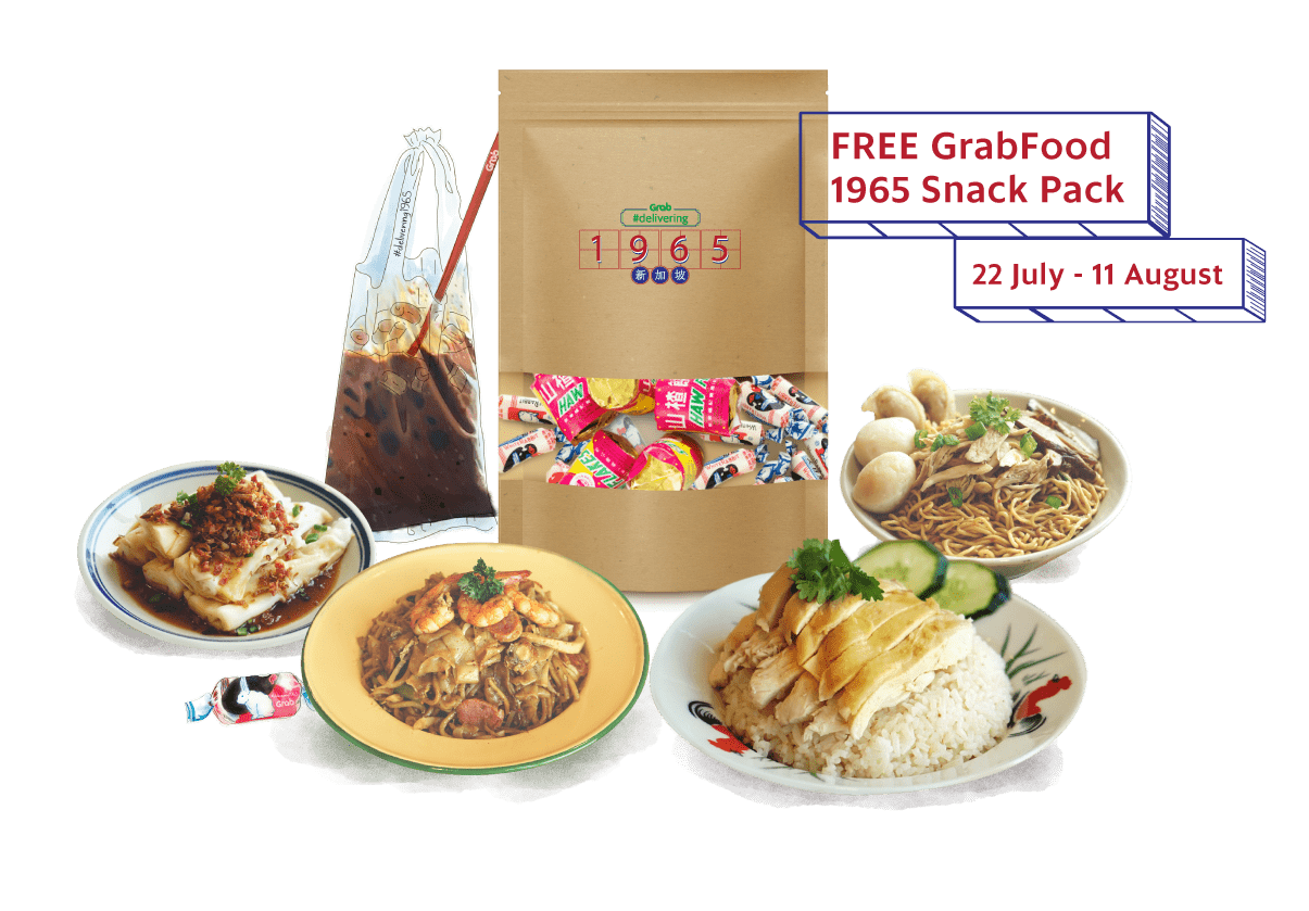 FREE GrabFood 1965 Snack Pack - 22 July - 11 August