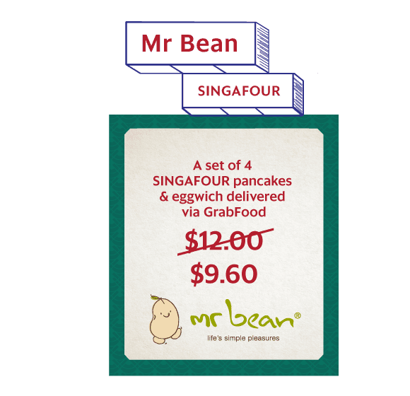 Get any 4 SINGAFOUR pancakes delivered via GrabFood. $7.20