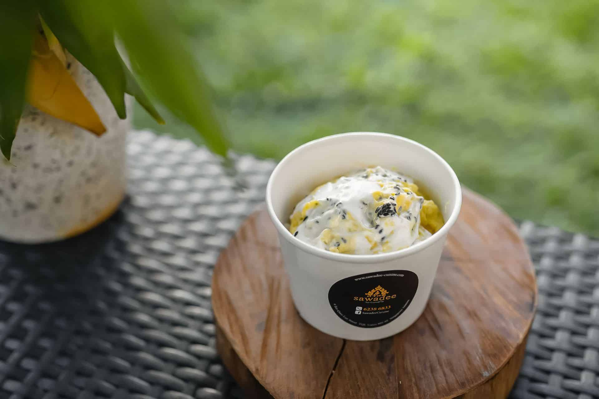 grabdurian durian sticky rice sawadee