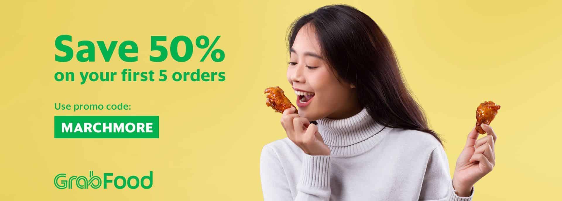 Enjoy 50% OFF first 5 orders on GrabFood | Grab MY