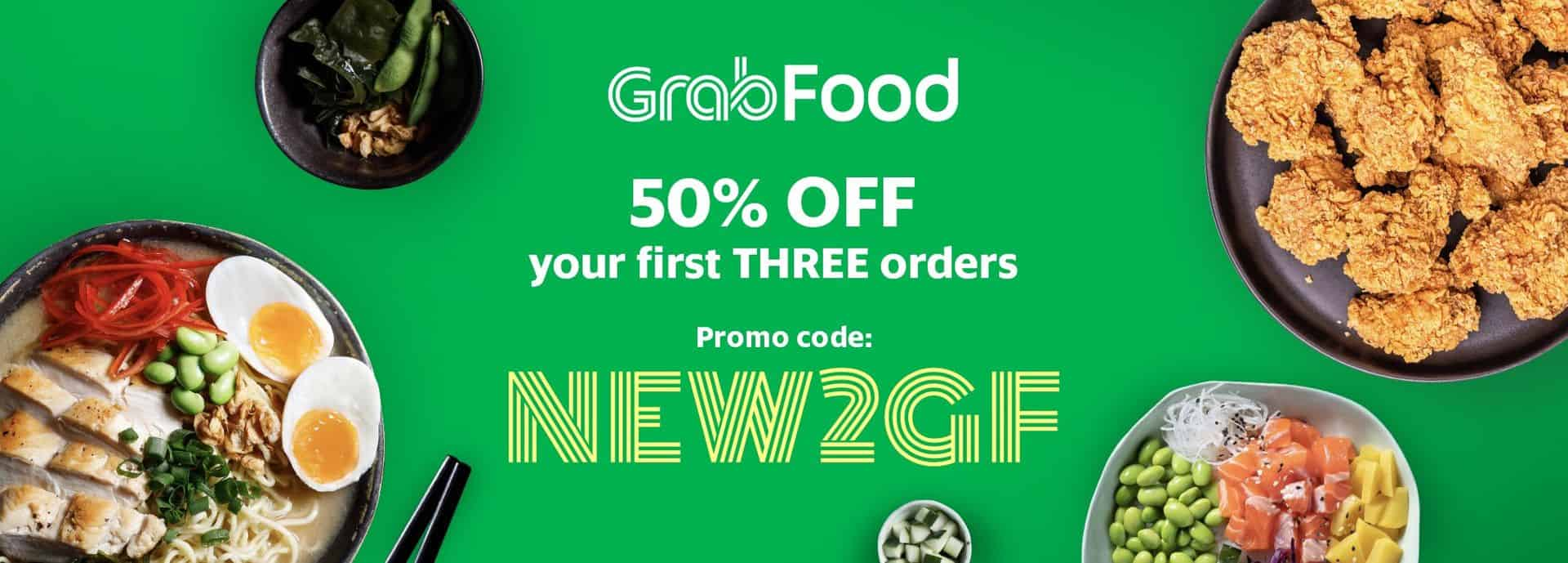 Save 50% on your first 3 GrabFood orders! | Grab MY