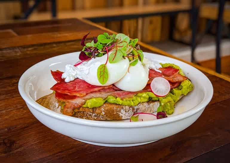 KL's best brunches: beef bacon, poached eggs and avocado on sourdough at Red Bean Bag