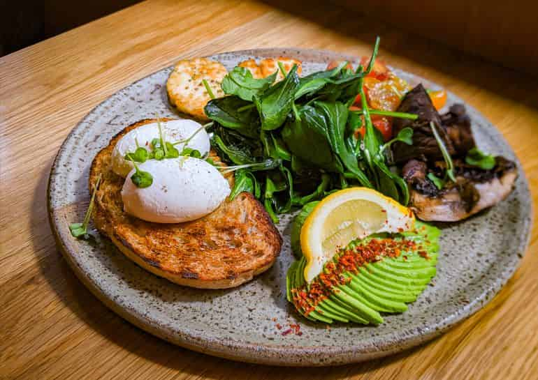 KL's best brunches: Vegetarian brunch with poached eggs on toast at Common Man Coffee Roasters