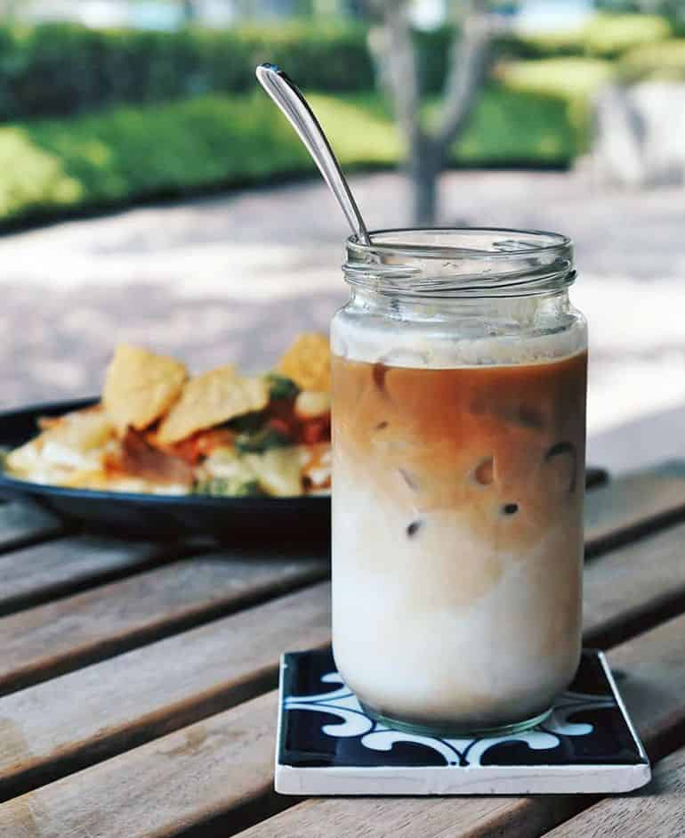 Best coffee shops in KL: an iced latte at Yellow Brick Road
