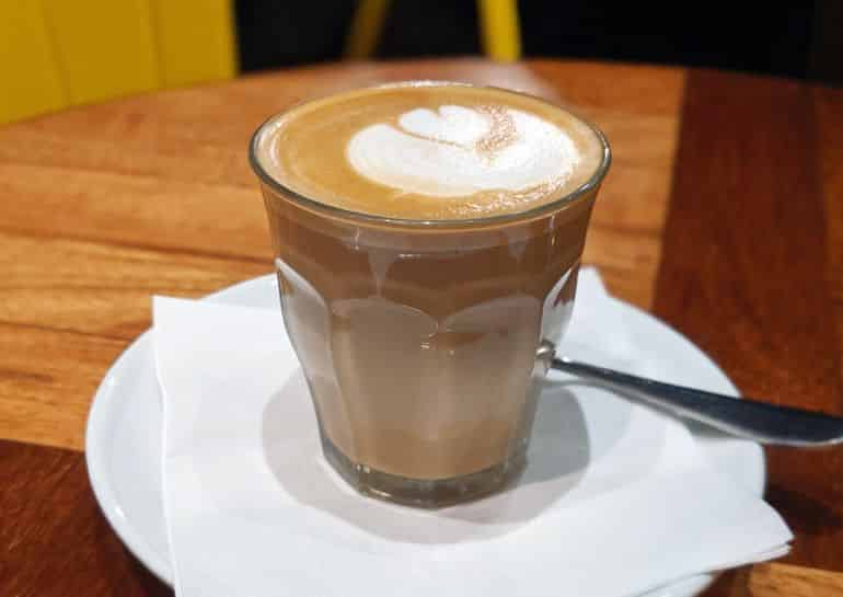 Best coffee shops in KL: a piccolo latte at Jardin Coffee and Tea