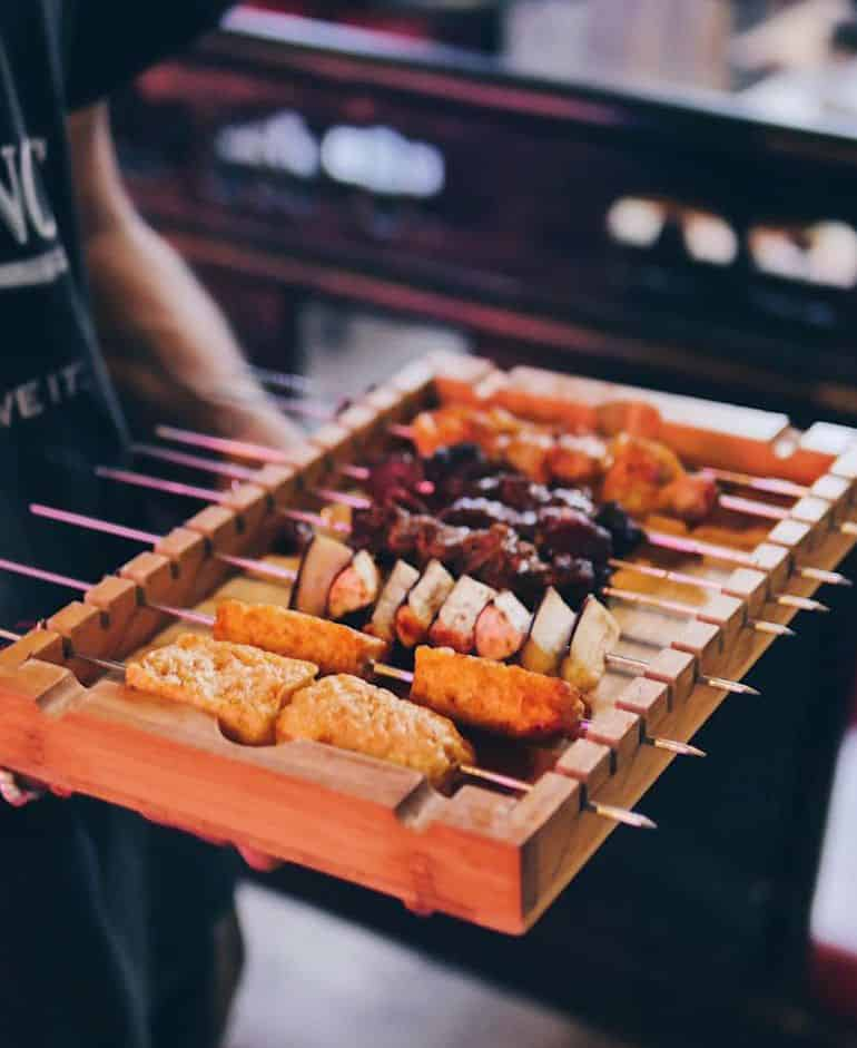 Sri Petaling food guide KL: Assorted skewers at 360 BBQ Skewer & Beer