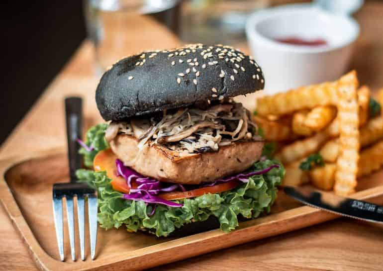 Sri Petaling food guide KL: Beancurd burger at The Link Cafe