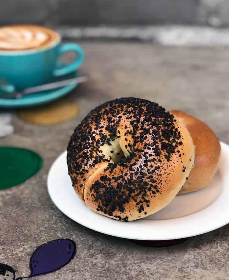 Best bakeries in Kuala Lumpur: Black sesame bagel at Hogan Bakery