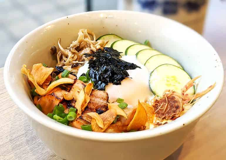 Japanese restaurants in KL: Torched Salmon rice bowl at Mei by Fat Spoon