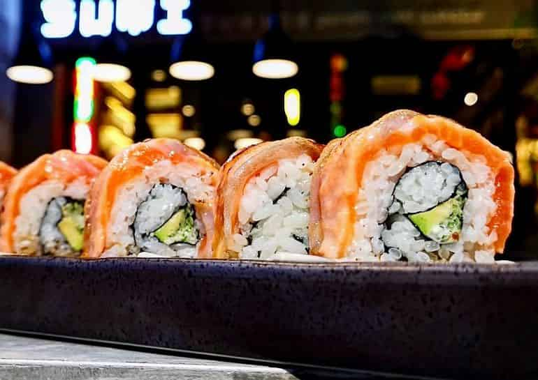 Japanese restaurants in KL: salmon avocado roll at Sumi Genshi Yaki Sakeba
