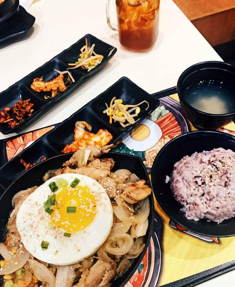 Halal Asian restaurants in KL: Korean honey garlic bulgogi chicken at Dubuyo