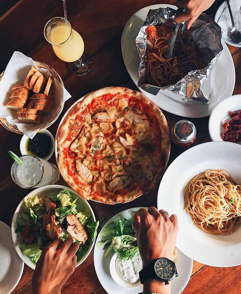 Best Italian restaurants in KL: pizza, pasta and salad and La Risata