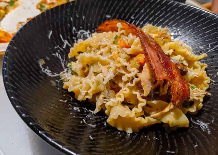 Best Italian restaurants in KL: reginette pasta with free range chicken and bacon at Grano Pasta Bar