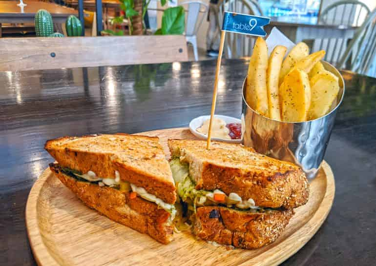 Best Italian restaurants in KL: Mushroom, vegetable and cheese sandwich at Table9