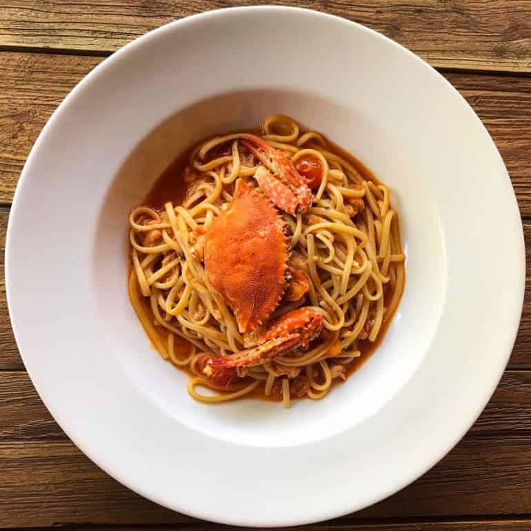 Best Italian restaurants in KL: Crab pasta at Trattoria Cucina