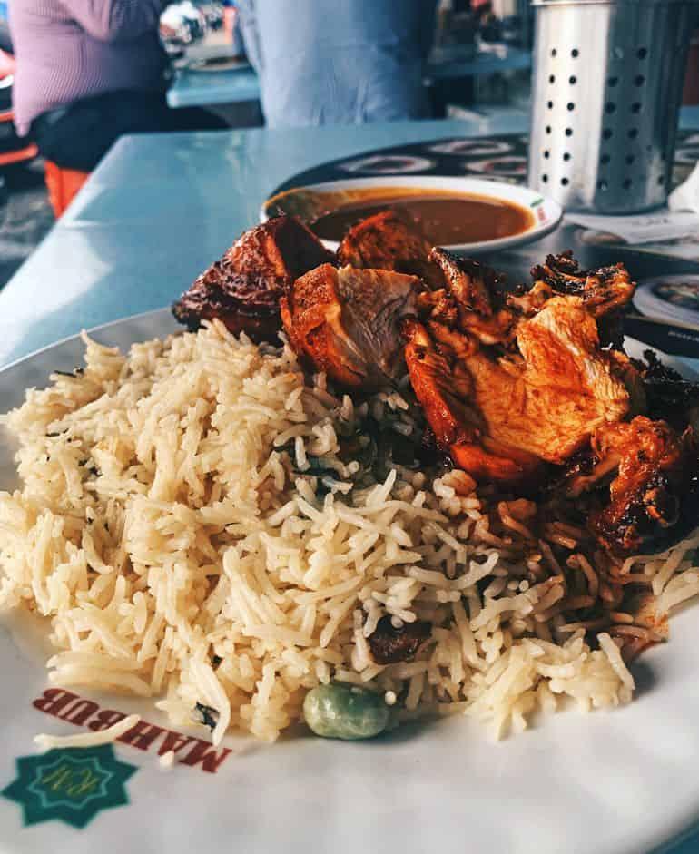 Best nasi briyani in KL: Ayam madu briyani at Restoran Mahbub