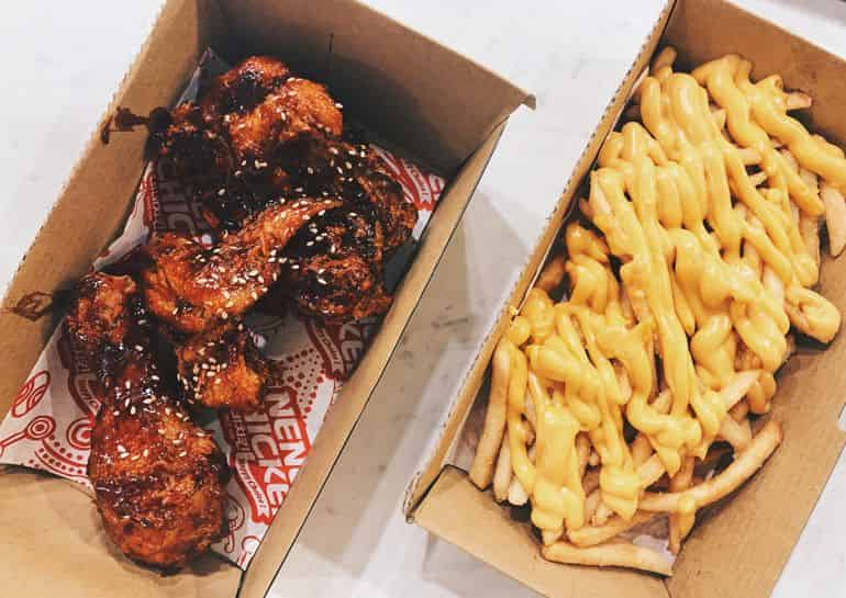 Best Korean food in KL: Fried chicken and cheese fries at Nene chicken