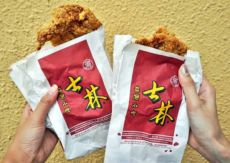 Street food delivery in KL: shihlin chicken at shihlin Taiwan street snacks