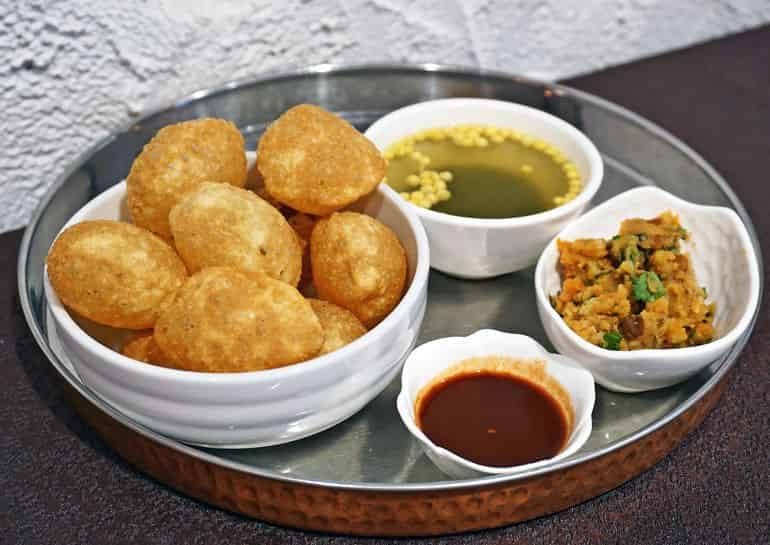 Street food delivery in KL: pani puri at Namaste India