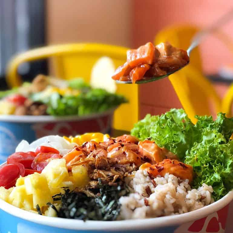 Best poke bowls in KL: The salmon poke bowl at The Fish Bowl