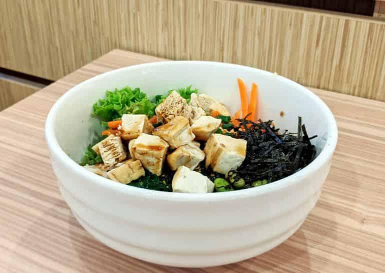 Best poke bowls in KL: The vegan tofu bowl at The Poke Lab