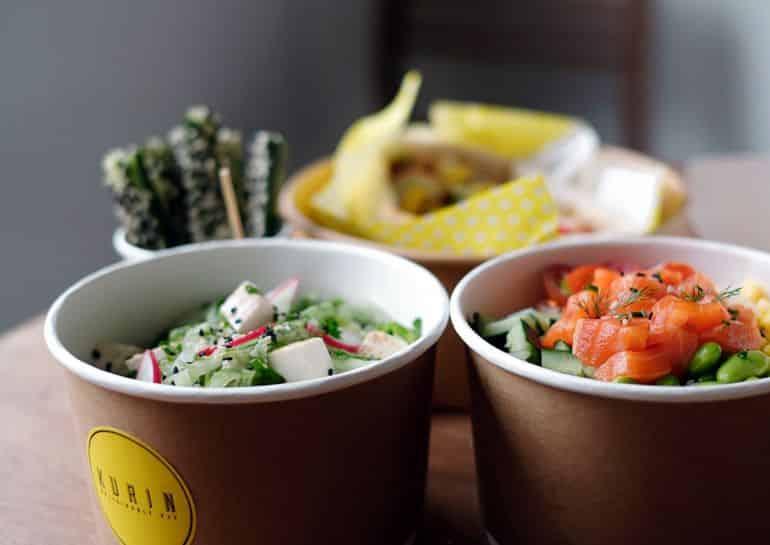 Best poke bowls in KL: Salad and poke bowls at Kurin