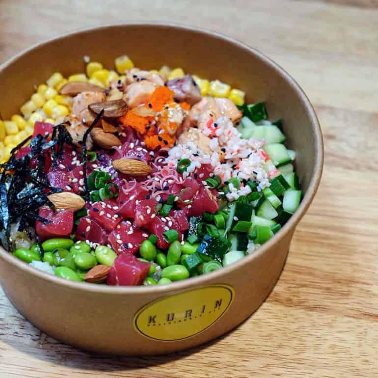Best poke bowls in KL: Fresh tuna poke bowl at Kurin