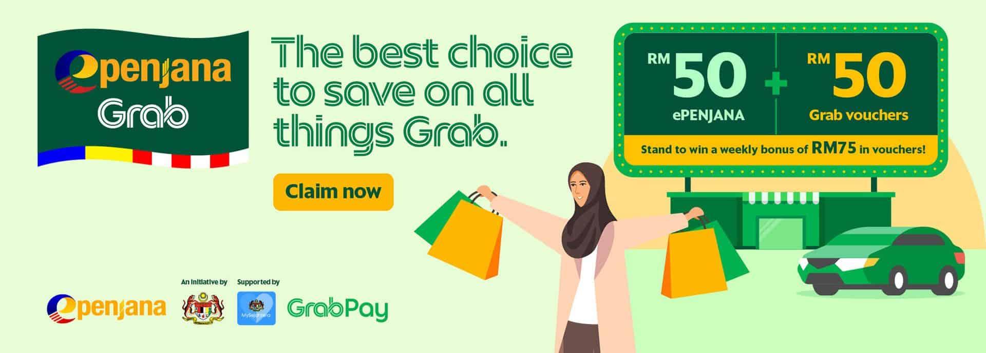 GrabPay – Official ePENJANA e-wallet | Grab MY