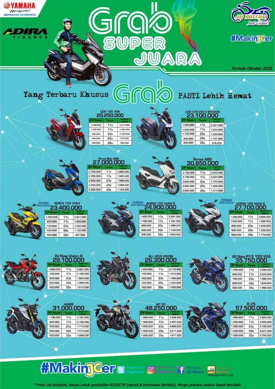 Grab Jabar Paket Angsuran Motor Yamaha Termurah Grab Id
