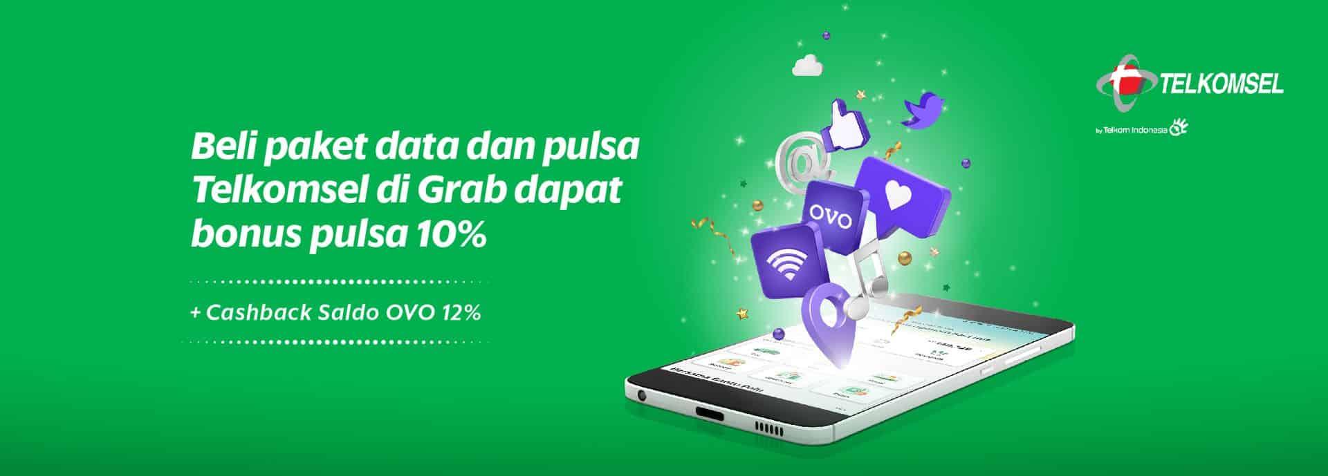 Liburan Makin Seru Beli Paket Data Dan Pulsa Telkomsel Di Grab
