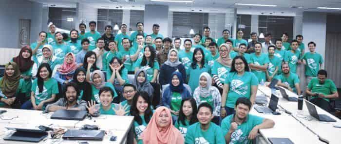 Bayu Yanuargi dan tim peta Grab di Indonesia