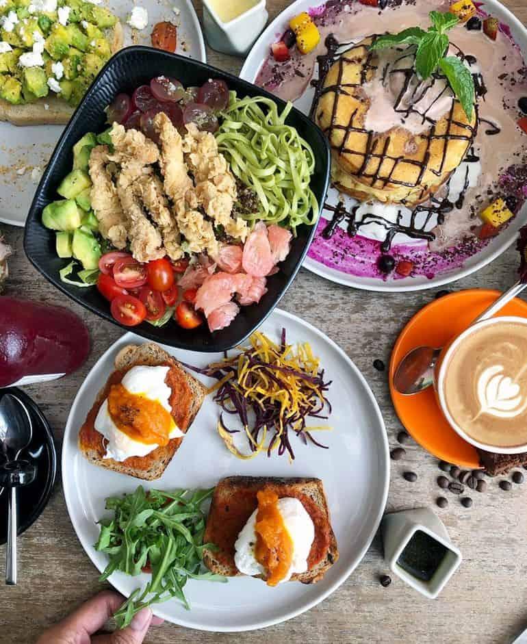 Vegan breakfast at Clean Canteen