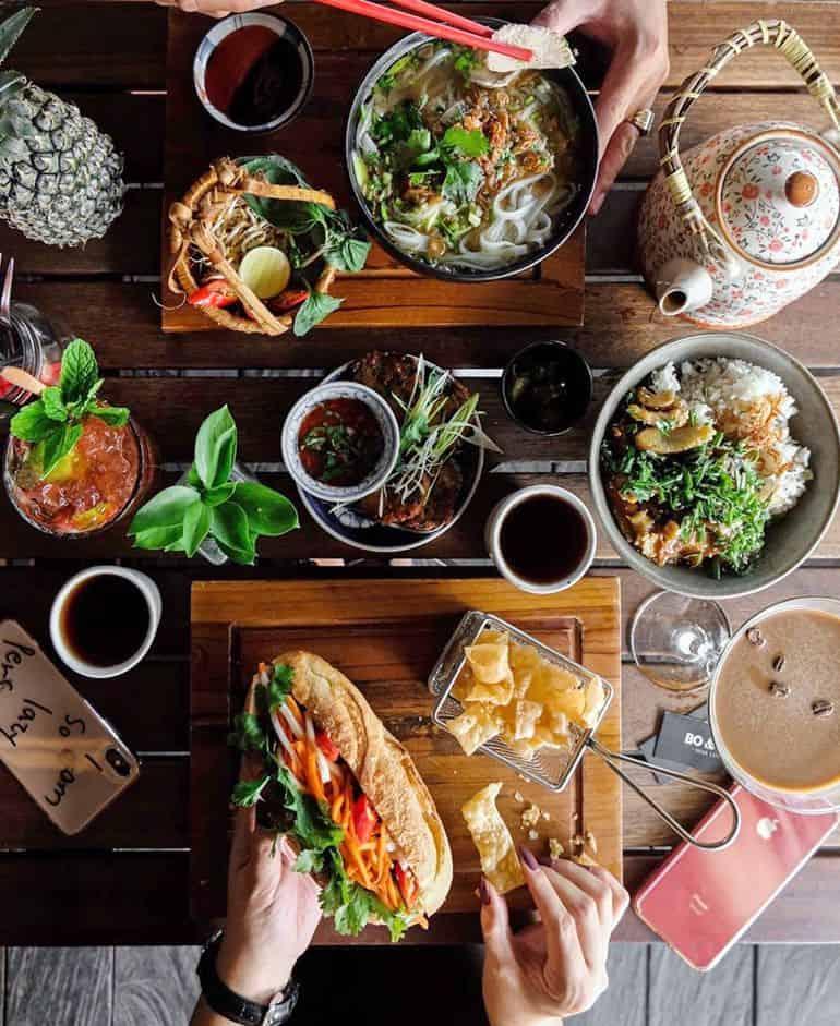 Best restaurants in Seminyak Bali: banh mi, pho and fusion dishes at Bo & Bun