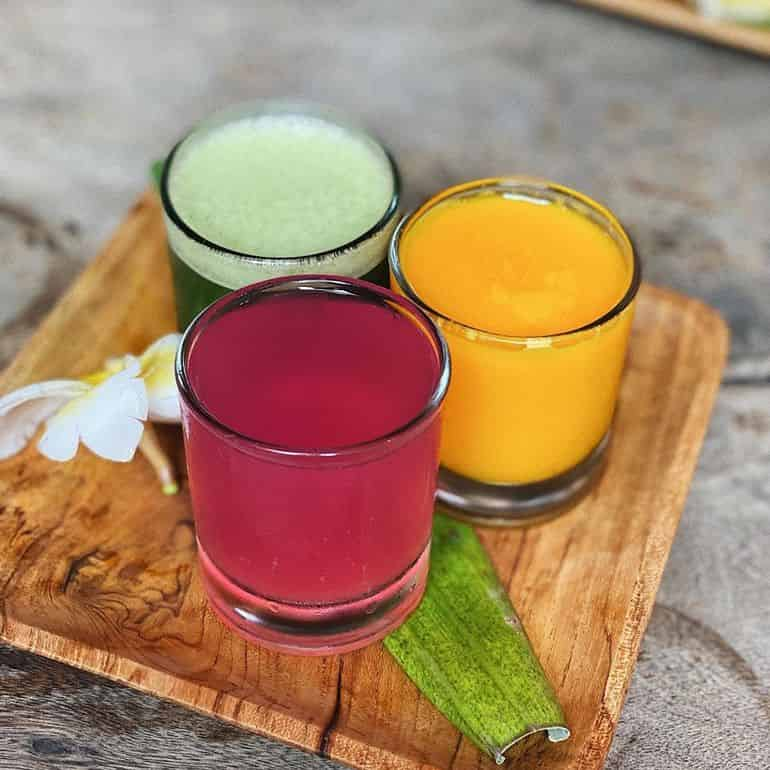 Best cafes in Bali: health shots at Betelnut, Canggu