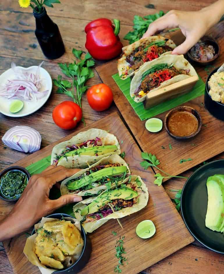 Best cafes in Bali: beef rendang and mahi-mahi tacos at Koloni Canggu