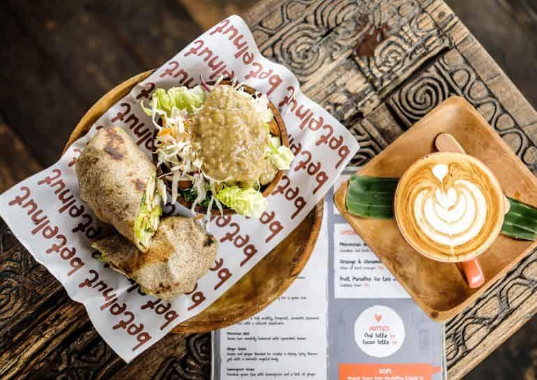 Best breakfasts in Canggu Bali: breakfast wraps at Betelnut Cafe