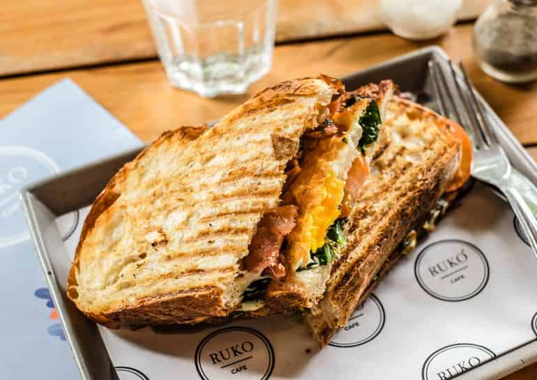 Best breakfasts in Canggu Bali: Ruko's toasties