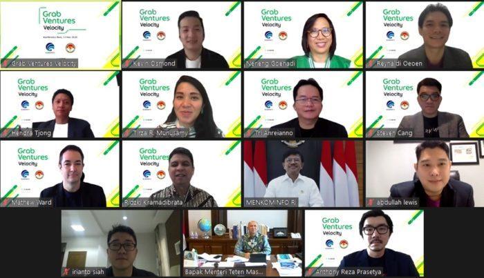 Konferensi pers virtual Grab Ventures Velocity Batch 3