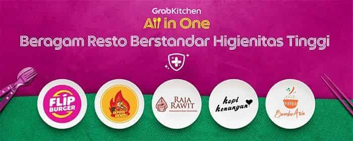 Ilustrasi fitur All in One GrabKitchen