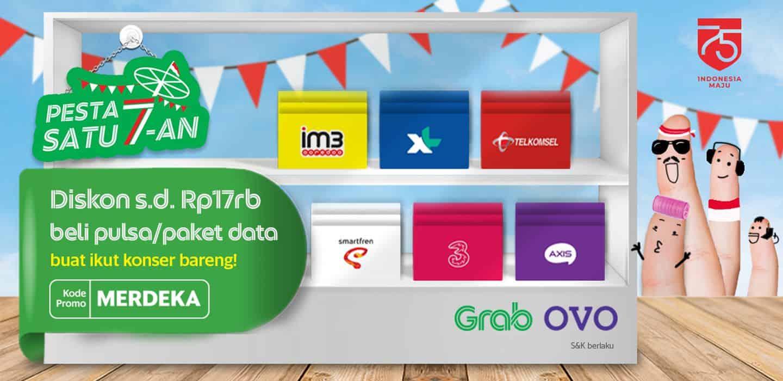 Beli Pulsa Paket Data Di Grab Bisa Nikmatin Pesta Satu 7 An Grab Id